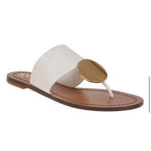 Tory Burch Patos Sandals Cream/White/Gold 10